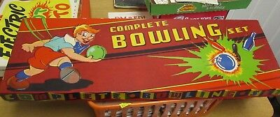 Vintage Concord Toy Company Complete Bowling Set No. 160 Wooden Pins Marbles  (Bowling Toy)