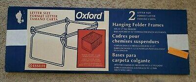 Oxford Hanging File Folder Frames - Letter Size - 2 Pack Brand New