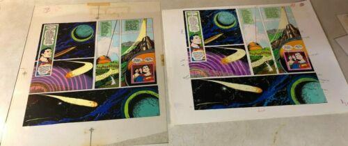 Superman ART + COLOR GUIDE 1975 SUPER VISION alien planet SPACE Lois Jimmy