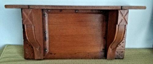 "EASTLAKE Antique vtg Wood Hanging Wall CLOCK SHELF~Victorian Aesthetic 19""x10"""