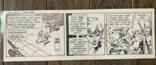 STAR HAWKS ORIGINAL COMIC STRIP ART -  JUNE 17 1980 - GIL KANE DAILY