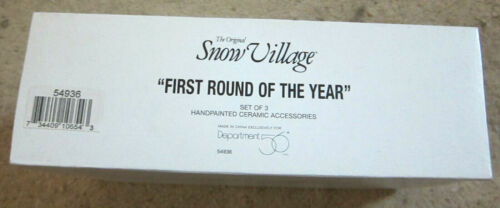 Department 56 Original Snow VIllage First Round of the Year Golfing figures