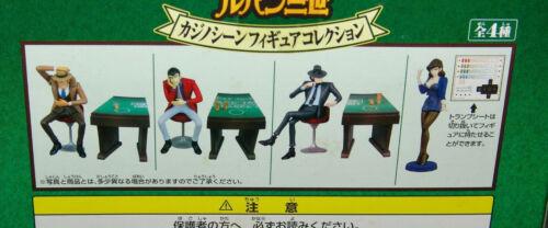 NEW SEALED Banpresto LUPIN The 3RD LUPIN Figure casino scene COMPLETE 4 Pc SET