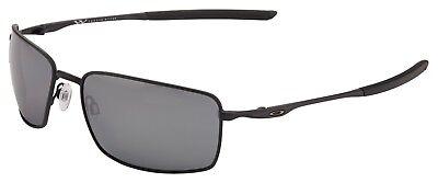 Oakley Square Wire Sunglasses OO4075-05 Matte Black | Black Iridium Polarized