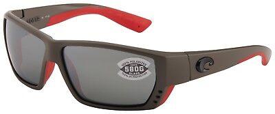 Costa Del Mar Tuna Alley Sunglasses TA-196-OSGGLP Race Grey 580G Grey Polarized (Costa Sunglasses Tuna Alley)