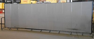 Screenflex Portable Freestanding Partition 6 Ft Height 11 Panels 205 Length