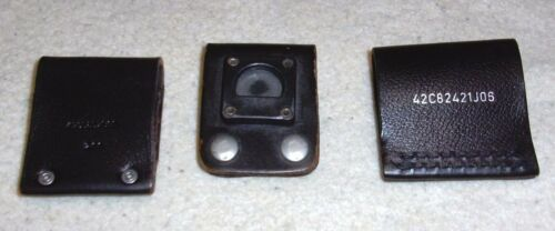 Lot of Three Genuine Leather Black Service Radio Belt Clips