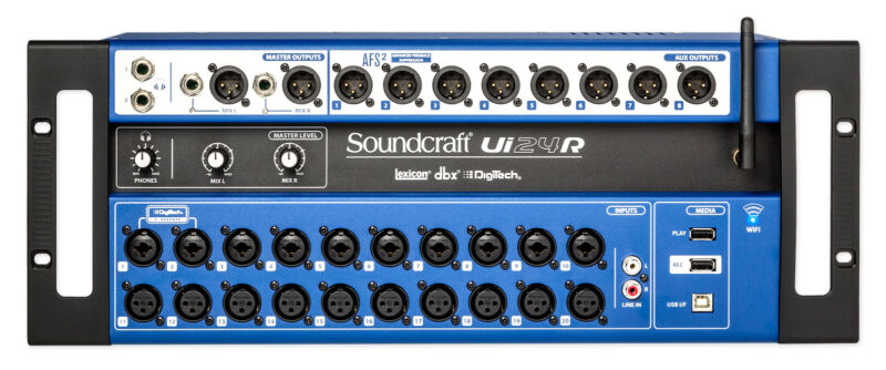 Soundcraft Ui24R 24 Input Digital Mixer w/Wifi+App Control+Recording Ui 24R