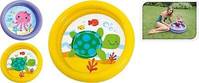 INTEX BABY 2 RING PADDLING POOL KIDS SWIMMING POOL OUTSIDE GARDEN SUMMER FUN