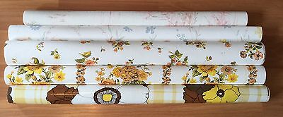 Old Wallpaper Pattern - OLD VTG DECORATIVE FLORAL PATTERN VINYL WALL COVERING HANGING PAPER LOT OF 5