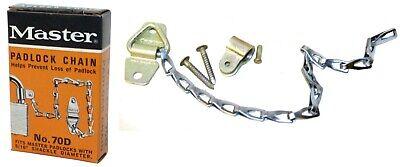 9 Master Padlock Chain 70d Cadmium Rustproof 516 Diameter Shackle