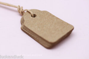 East of India Vintage Style Plain Brown *MINI* Tags x 10 Craft / Favours
