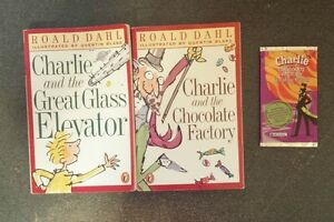Willy Wonka Books- Charlie & Chocolate Factory & Glass Elevator