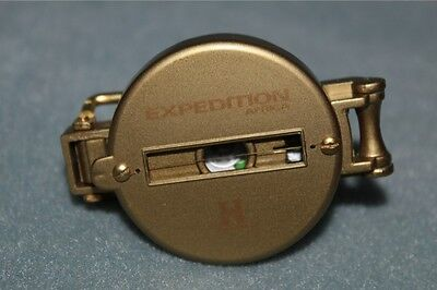History Channel Expedition Africa Gold Metal Compass