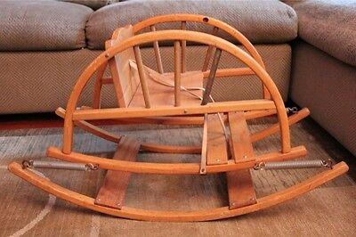 Teetertot Teeter Totter Vintage Wooden Child Rocking Chair