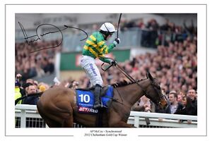 TONY AP McCOY SYNCHRONISED 2012 CHELTENHAM GOLD CUP AUTOGRAPH SIGNED PHOTO PRINT