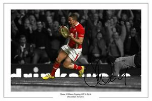 SHANE WILLIAMS FINAL MATCH WALES RUGBY SIGNED PHOTO PRINT AUTOGRAPH