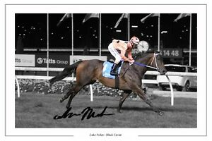 LUKE-NOLEN-BLACK-CAVIAR-AUTOGRAPH-SIGNED-PHOTO-PRINT-HORSE-RACING