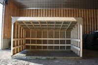 Horse Shelters & Calf Shelters & Hay Stores