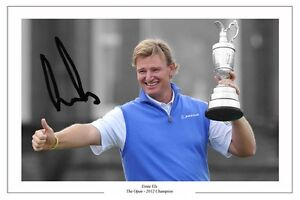 ERNIE ELS THE OPEN GOLF 2012 AUTOGRAPH SIGNED PHOTO PRINT POSTER