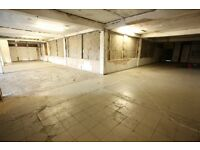 Southside Glasgow, 1st Floor, 3,500 sq feet budget space, 3 phase electric, electric shutters,