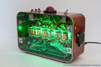 NIXIE Tubes Steampunk Alarm Clock IN-12 Handmade Vintage Retro Fallout Gift