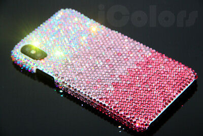Bling Pink Crystal Diamond Case Hard Cover For iPhone X XS W/H SWAROVSKI ELEMENT Pink Crystal Bling