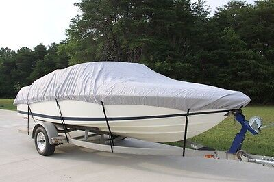 NEW VORTEX COMBO PACK HEAVY DUTY GREY 14 15 16' BOAT COVER + SUPPORT SYSTEM