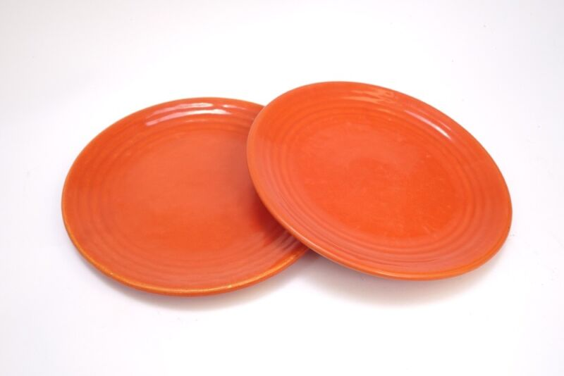 """Bauer 9 1/2"""" Dinner plates in Orange"""
