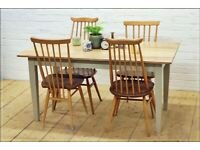 oak dining table kitchen table country vintage reclaimed solid oak 6 seater, used for sale  Corstorphine, Edinburgh