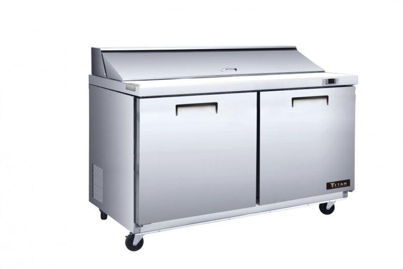 Titan Xtmu48 Xt Mega Top Sandwich Prep Tables 2 Door 18 Pans 48 Inch