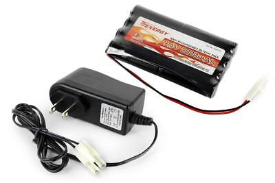 Combo Tenergy 9.6V 2000mAh NiMH RC Car Battery Pack +12V 300mA Simple Charger 12v Nimh Rc Battery