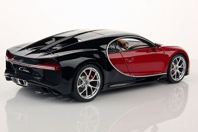 Bugatti Chiron Nocturne  Italian Red In 1 18 Scale By Mr Collection  Bug06b