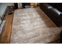 !!! Champagne Dunelm Shaggy pile rug for Sale !!!
