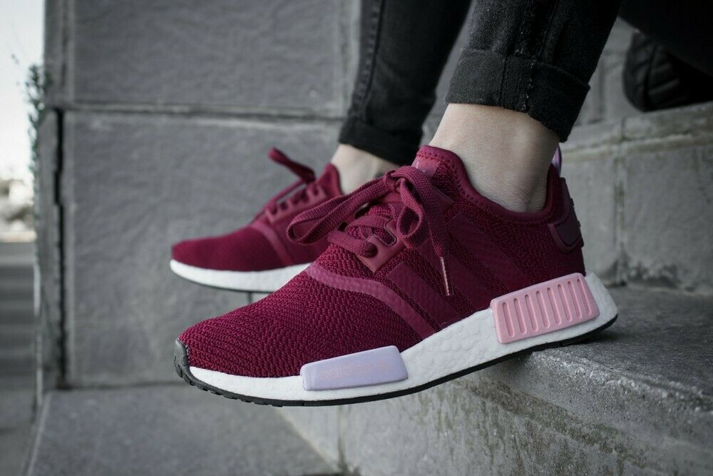 Adidas NMD_R1 Women's Sneakers (Size 6.5 - 10.5) Burgundy / Orange B37646