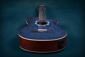 Lindo LDG-960CEQ Electro-Acoustic Classical Guitar - Picasso Blue