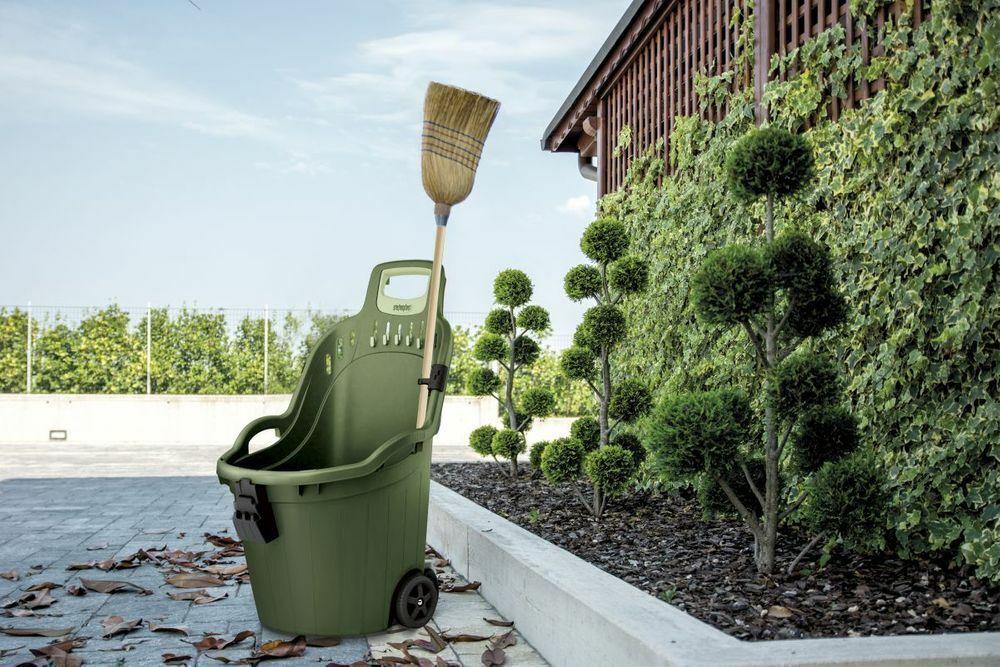 Gartentrolley Gartenwagen Schubkarre Gartenkarre Transportkarre Kunststoff HELPY