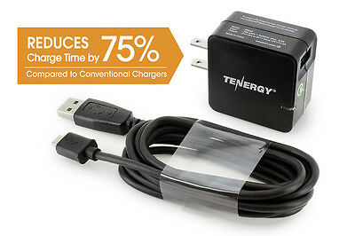 Tenergy Usb Adaptive Fast Charger W  Qualcomm  Quick Charge  2 0 Technology