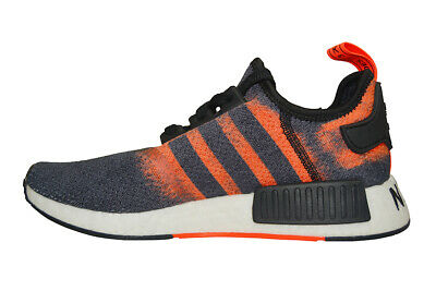 Adidas NMD R1 Flyknit black red men running shoes