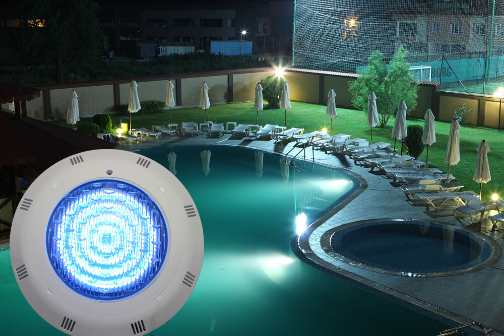 Rgb 5 color 558 led underwater swimming pool light - Swimming pool fountains and lights ...