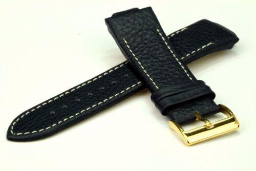 Constantin Weisz Ersatzuhrarmband Leder dunkelblau Stegbreite 12 / 24 mm Uhrband