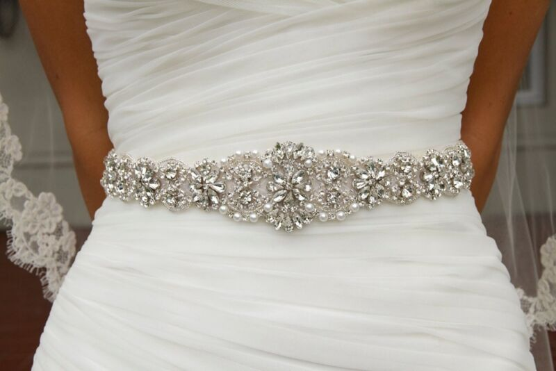 Handmade Wedding Bridal Belt Crystal Rhinestone Dress Sash Wedding Sash Belt