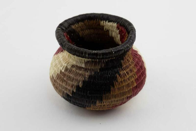 Wounaan Indian Hand Woven Spiral Design Basket Panama