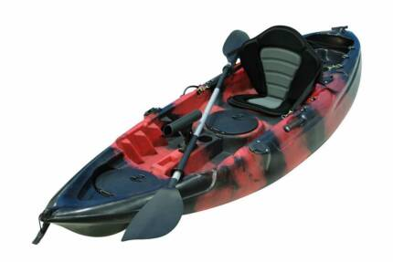 **WOW** 2.7m Fishing Kayak Package Crazy Price $349 Red Kayak