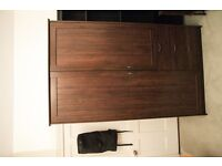 Ikea Dark wood wardrobe Urgent