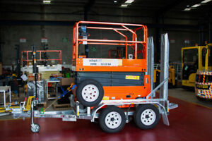 19ft 6m Scissor Lift & Trailer Hire $150+GST per Day Wetherill Park Fairfield Area Preview