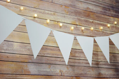 White Large Triangle Flag Pennant Banner (11FT)