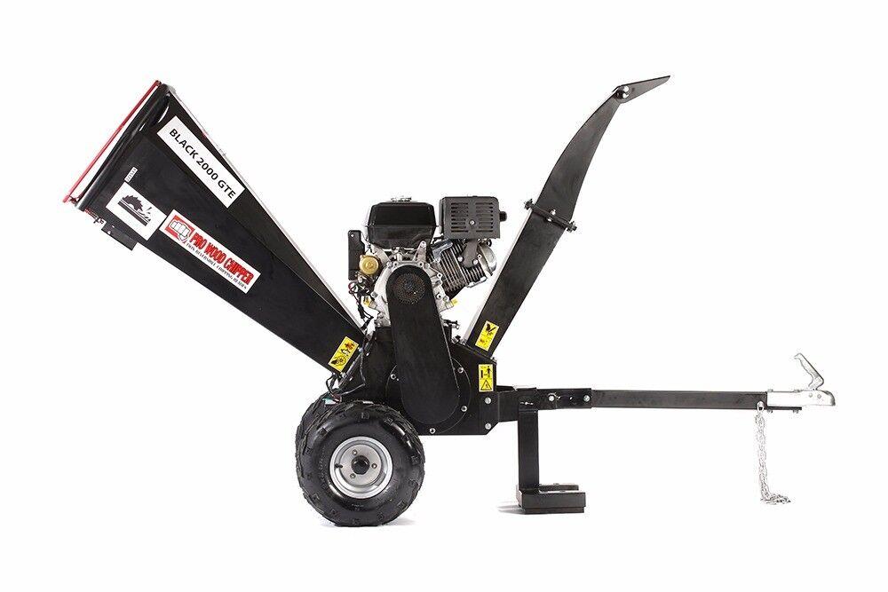 "Black Tools 2000GTE ,15HP Wood chipper garden shredder 4"", 12cm"