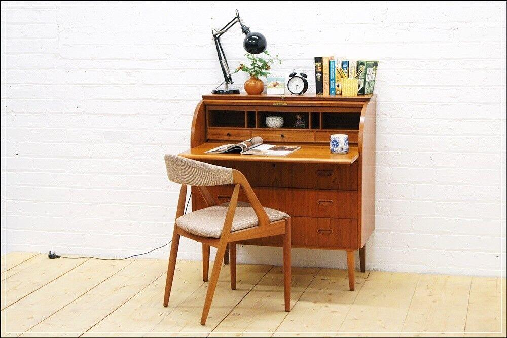 Vintage Bureau Teak Laptop Table Desk Roll Top Egon Osteergard Made In Sweden Aa In Corstorphine Edinburgh Gumtree
