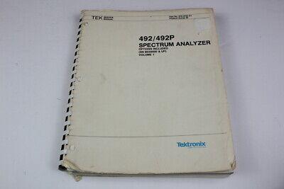 Tektronix 070-3783-01 492492p Spectrum Analyzer Service Manual Volume 1
